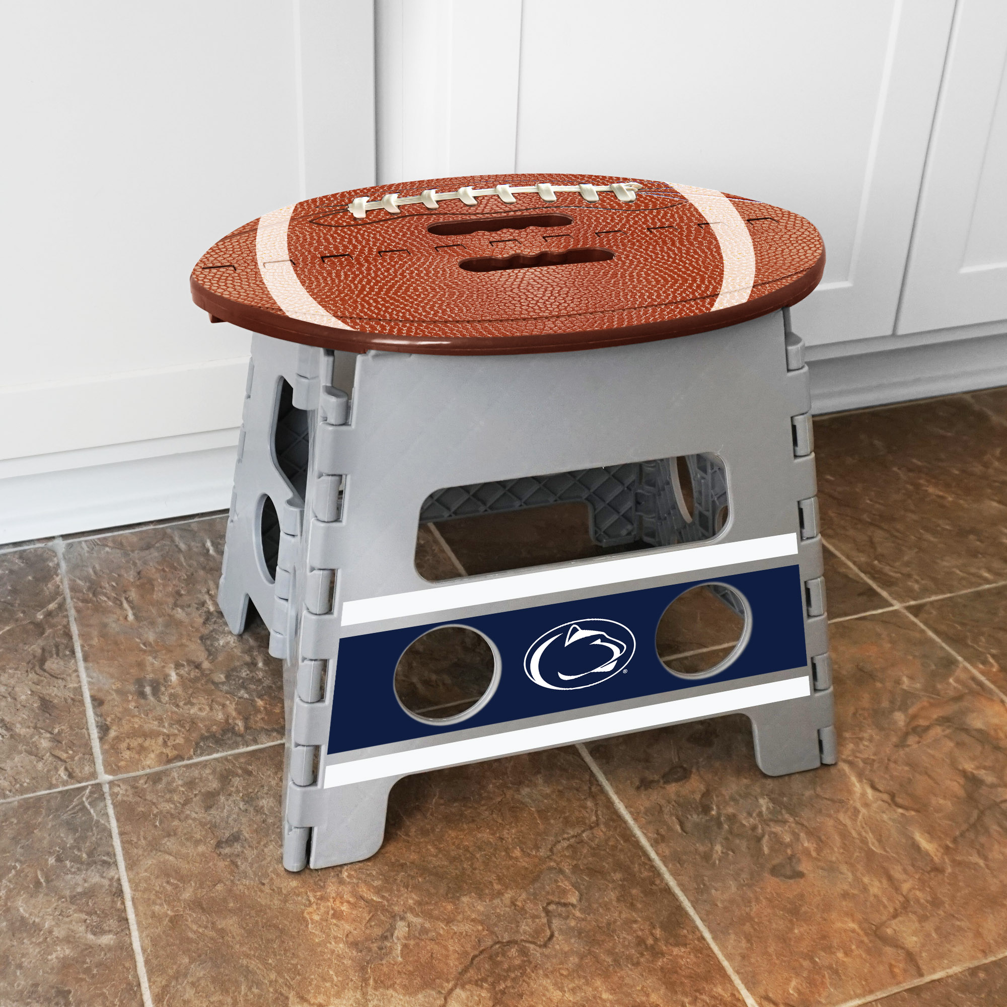 Fanmats Penn State Plastic Folding Step Stool With 250 Lb