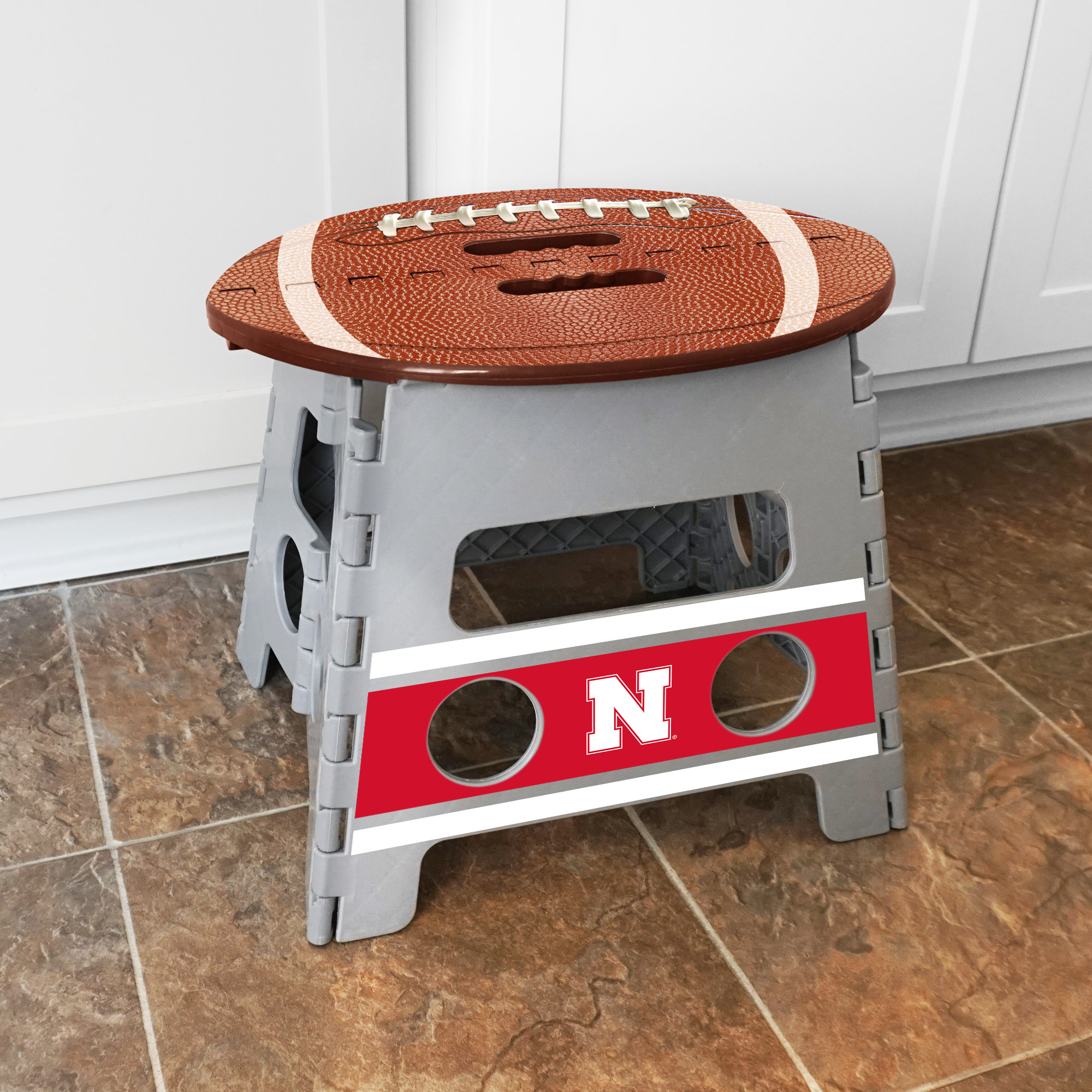 Miraculous Details About Fanmats University Of Nebraska Plastic Folding Step Stool Ocoug Best Dining Table And Chair Ideas Images Ocougorg
